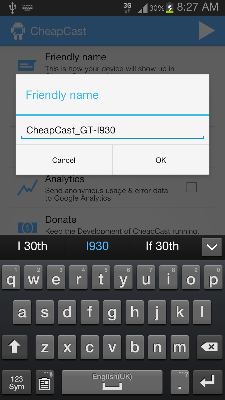 cheapcast screenshot