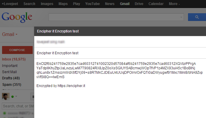 encipher it encrypted email