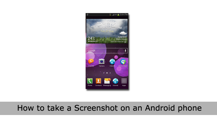how to take screenshot on android phone