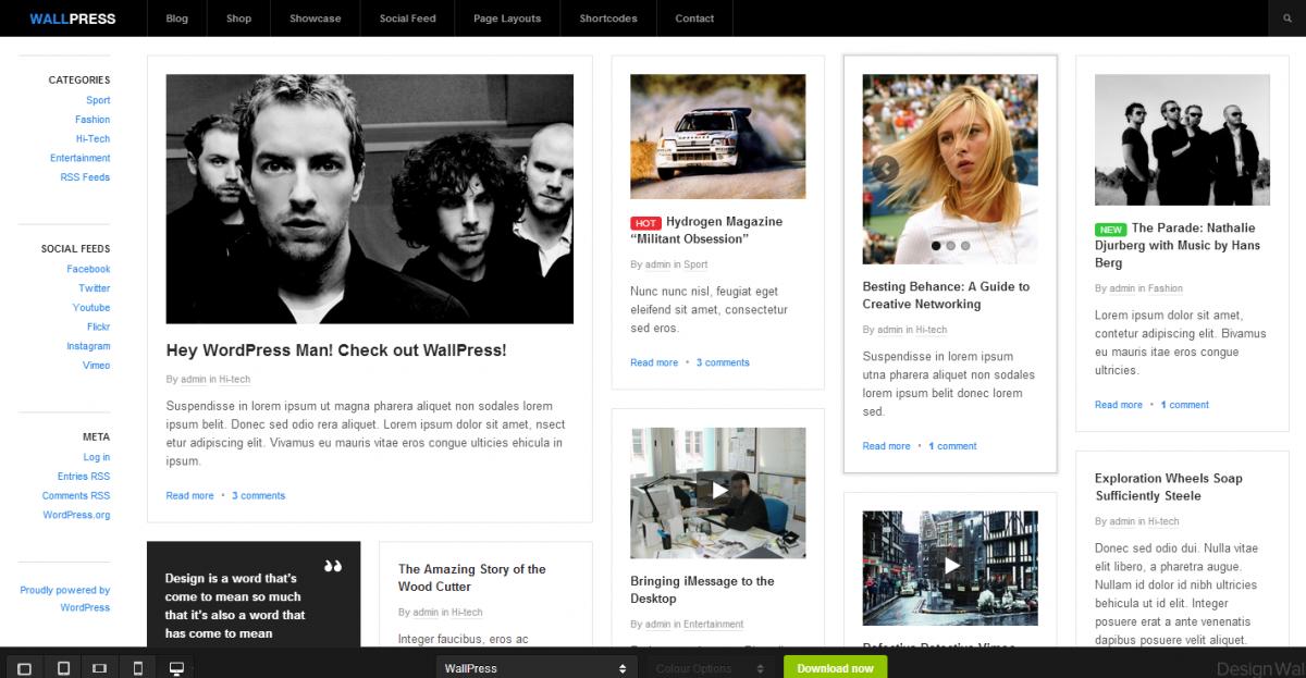 DesignWall   WordPress Themes Demo