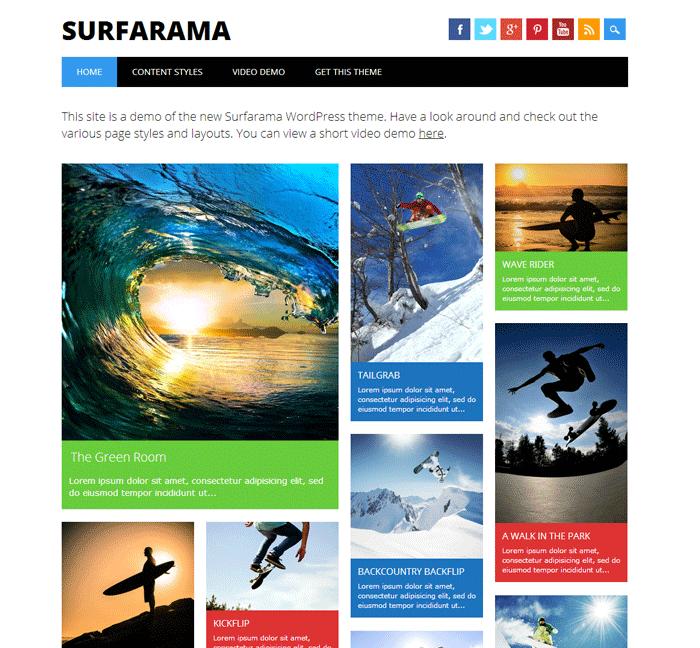 Surfarama-WordPress-Theme