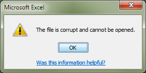 corrupted data and file