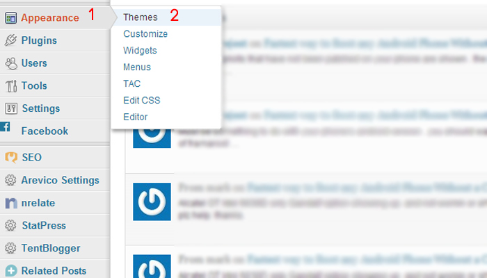 install-wordpress-theme-select-apperance-and-theme