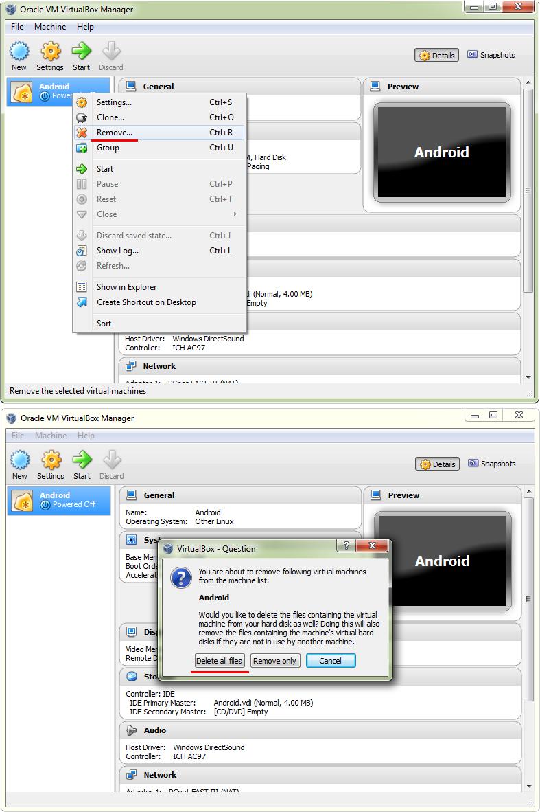 remove-virtual-box
