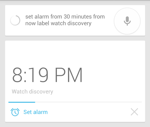 Voice-command-to-set-alarm-with-label-on-android-phones