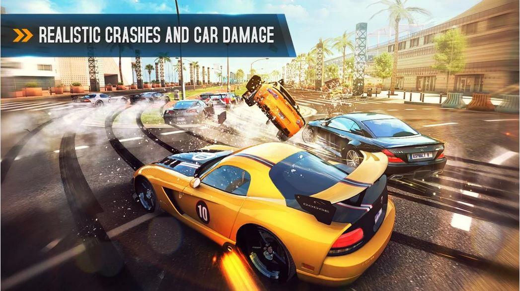 asphalt 8 airborne realistic car crash