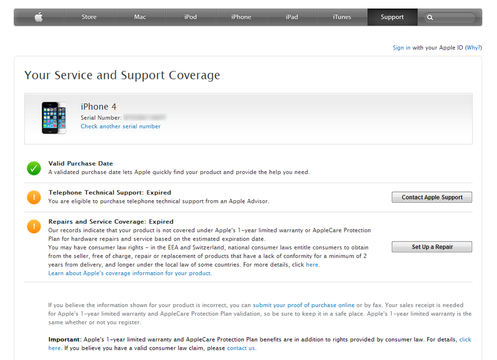 iphone warranty check how to check your apple service and support coverage 1959
