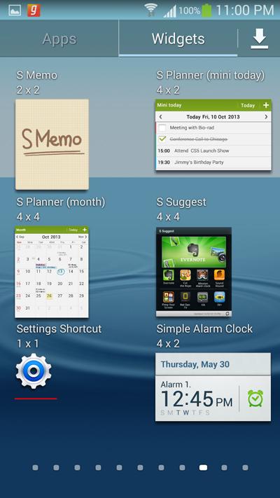 select-the-settings-shortcuts-widget