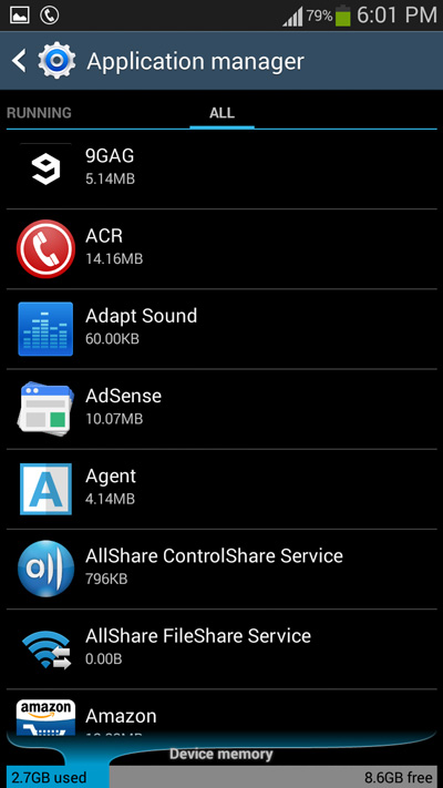 application-manager-on-android