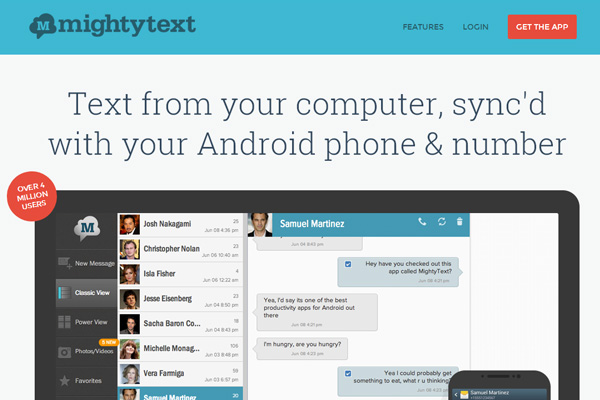 Mightytext-web-interface