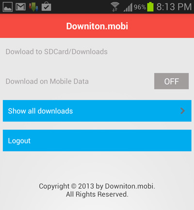 downitonmobi-android-app-interface