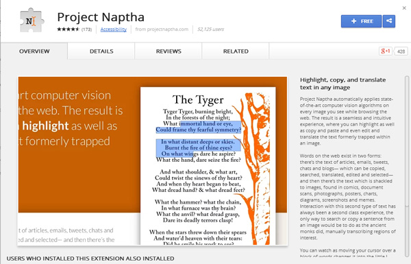 project-naptha-browser-extension-for-google-chrome
