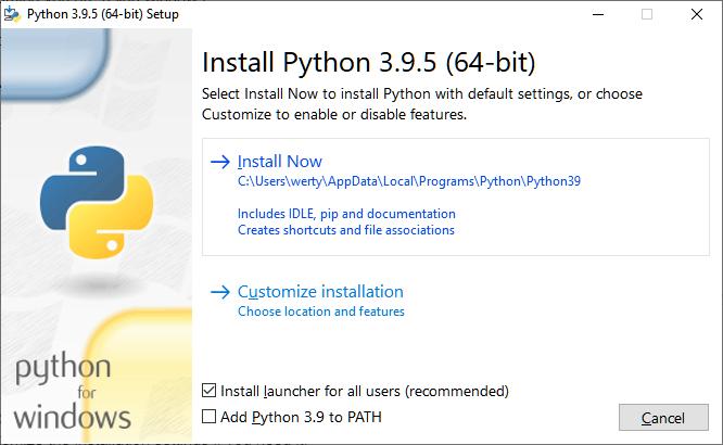 install python3 windows